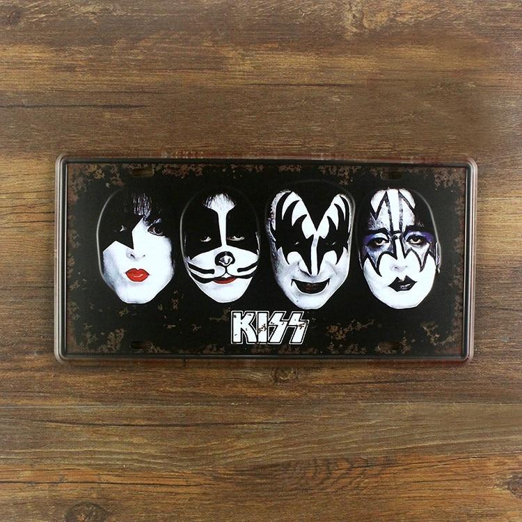 Painting Bars Vintage Metal Music Band Wall Art Decor House Tin Sign ...