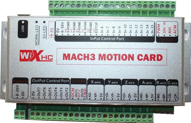 USB port cnc 4 axis mach3 motion controller kit control card board