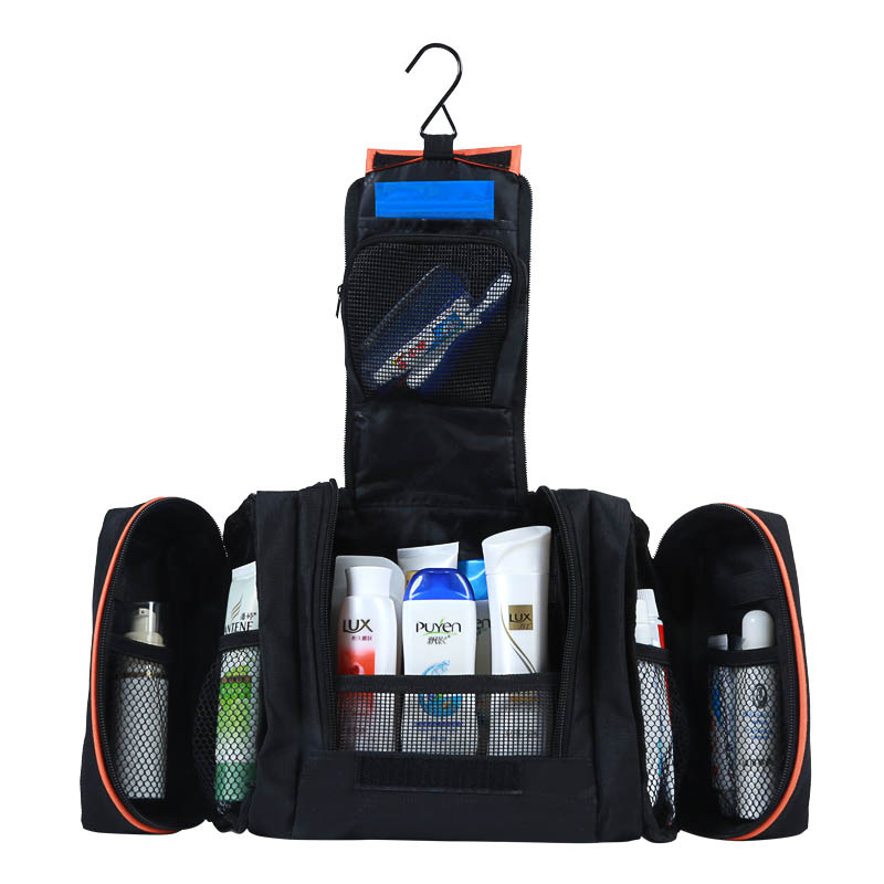 6fe85752e488 ... Toiletry Kit Cosmetics Cases Makeup. 3 In 1 Men Women Cosmetic Travel  Toilet Shaving Bag Portable