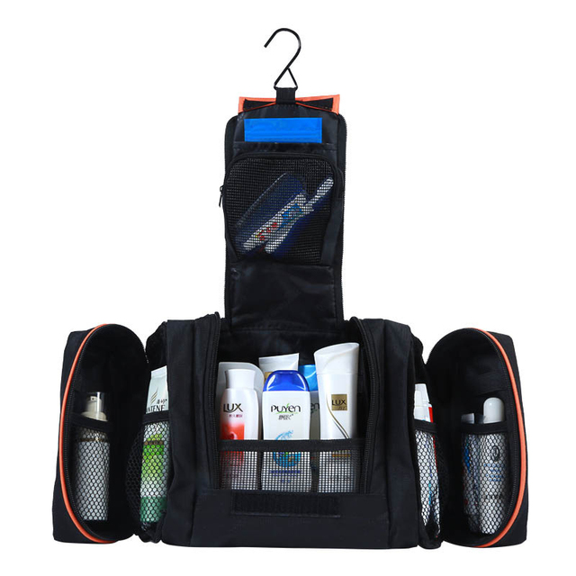 888c4e5119c2 3 in 1 Men women cosmetic travel toilet shaving bag portable toiletry kit  cosmetics cases makeup