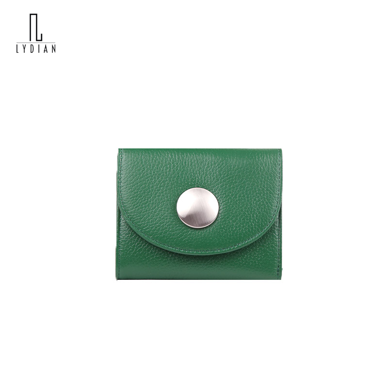Green Big Round Metal Hasp Card Wallets Mini Wallet Card Short Women Purses Simple Design Coin Holder 2017 New Dames Coin Purses casual weaving design card holder handbag hasp wallet for women