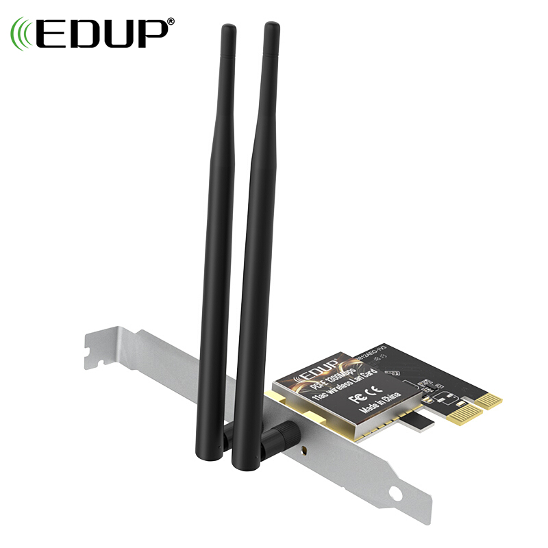 EDUP PCI Express Wireless WiFi Adapter 1300Mbps 2.4/5GHz 802.11AC Dual Band Wireless PCI-E adapter network card 2*6dBi Antennas ручной душ ravak туман x07p233