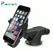 Car Phone Holder Suction Windshield Mount Stand 360 Adjustable Phone Holder For iPhone 7 plus Samsung xiaomi  GPS Suporte Car