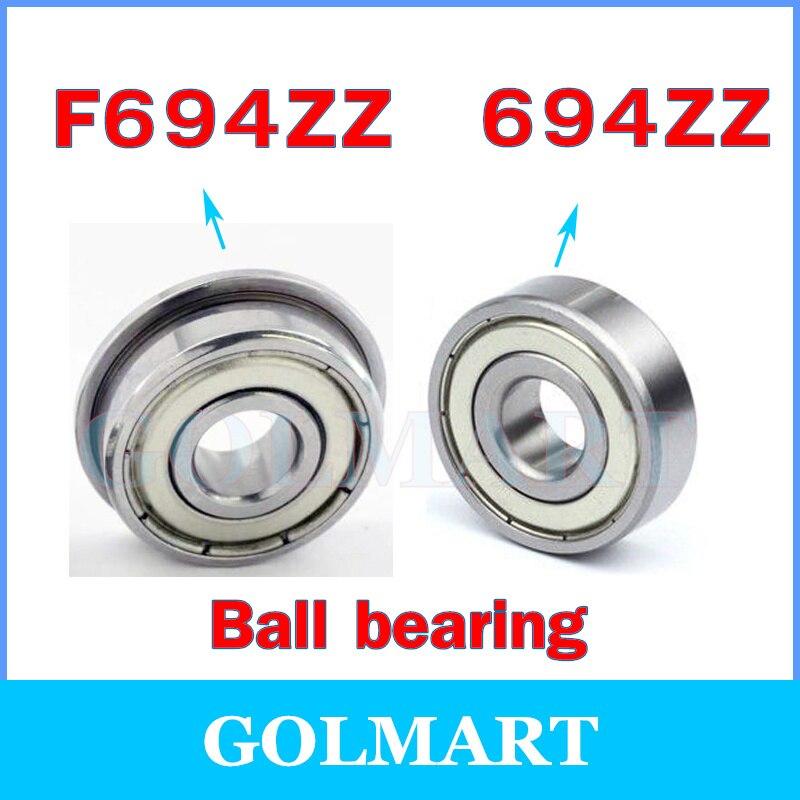 Metal Double Shielded High Precision Ball Bearing 20 PCS 5x13x4 mm 695ZZ