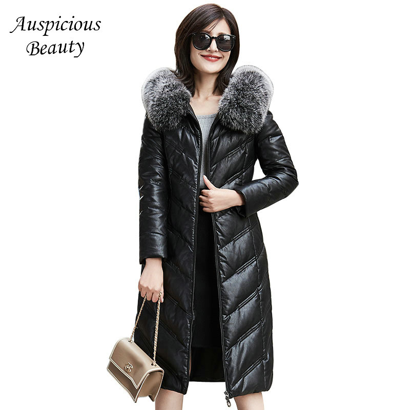 2017 New Women Winter Jackets Short Down Outerwear Wool Turn-down Collar Genuine Leather Coat Plus Size Sheepskin Jacket CXM365