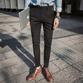 2017 Spring New High Quality Men Casual Pencil Pants Male Slim Fit Trousers Trend Fashion Suit Pant Size 28-34