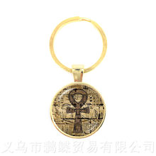 Sun and Moon Masonic Mason Keychains Eye Of Providence Keyring Men Ancient Egyptian Ankh Pendant Religious Jewelry(China)