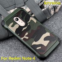 Hot Case For Xiaomi Redmi Note 4 2 In1 Army Camouflage Pattern PC TPU Armor Anti
