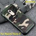 Caso caliente para xiaomi redmi note 4 camuflaje del ejército 2 in1 patrón pc + tpu armor anti-golpe de protección cubierta posterior para redmi note 4