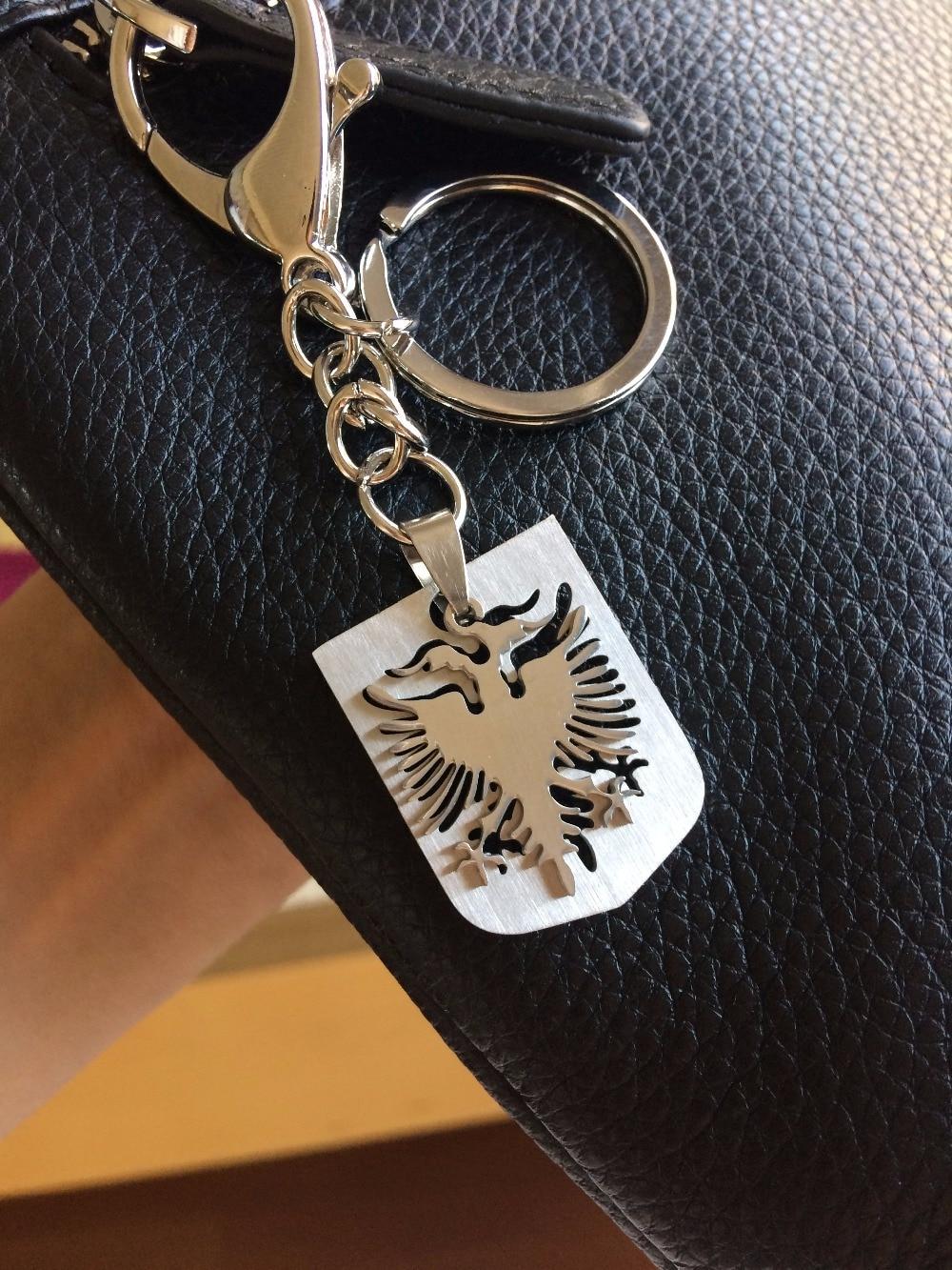 New York attraente e resistente vendita scontata US $3.71 5% di SCONTO|2 pz/lotto Albania bandiera della collana dei monili  Keychain Chiave anello Kosovo Albanie bag portachiavi Albanien Albanese ...