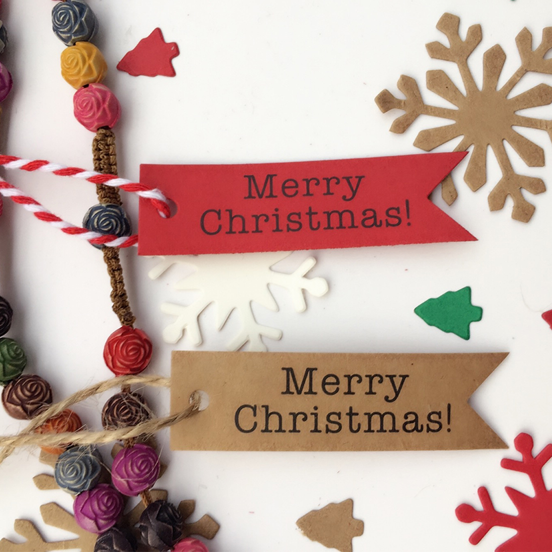Good Wholesale 100pcs Decorative Merry Christmas Paper Gift Tags Label Hanging Cards DIY Home Party Christmas Accessories