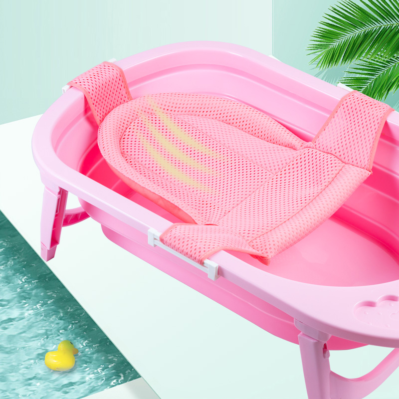 Baby Shower Portable Air Cushion Bed Bathtub Mat NewBorn Safety Security Bath Seat Support Baby shower net