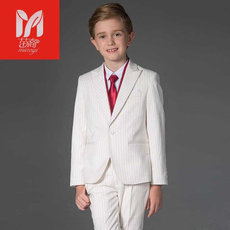 2017 children's leisure clothing sets kids baby boy suits Blazers vest gentleman clothes for weddings formal clothing stripe