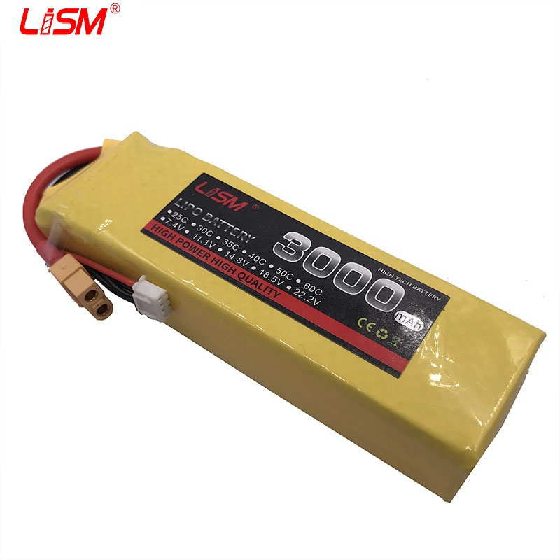 <font><b>Battery</b></font> <font><b>Lipo</b></font> <font><b>3S</b></font> 11.1V <font><b>3000mAh</b></font> 35C For RC Quadcopter Car Drone Boat Airplane Helicopter Model Remote Control Toys Lithium B#40C15 image