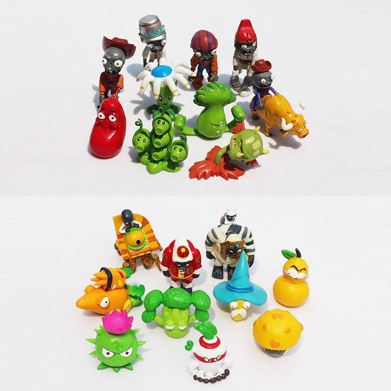 unidsset pvz plants vs zombies pvc figura juguetes figuras de plantas zombies muecas