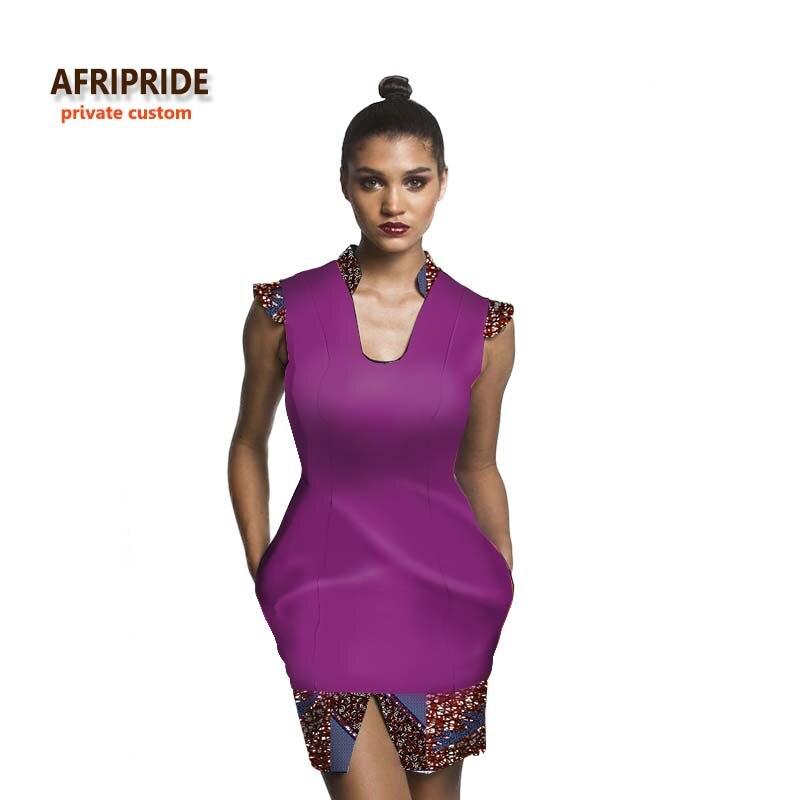2018 style africain robe pour femmes mosaique tissus robe de soirée sexy mode femmes vêtements pour jeunes filles ladys plus sizeA722528
