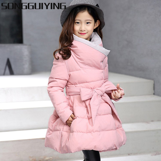 9260d9b1e3e SONGGUIYING A102 Kids Warm Princess Coats Children Thick Warm Jackets Clothing  Girls Winter Jacket Outdoor Parka Down Coat