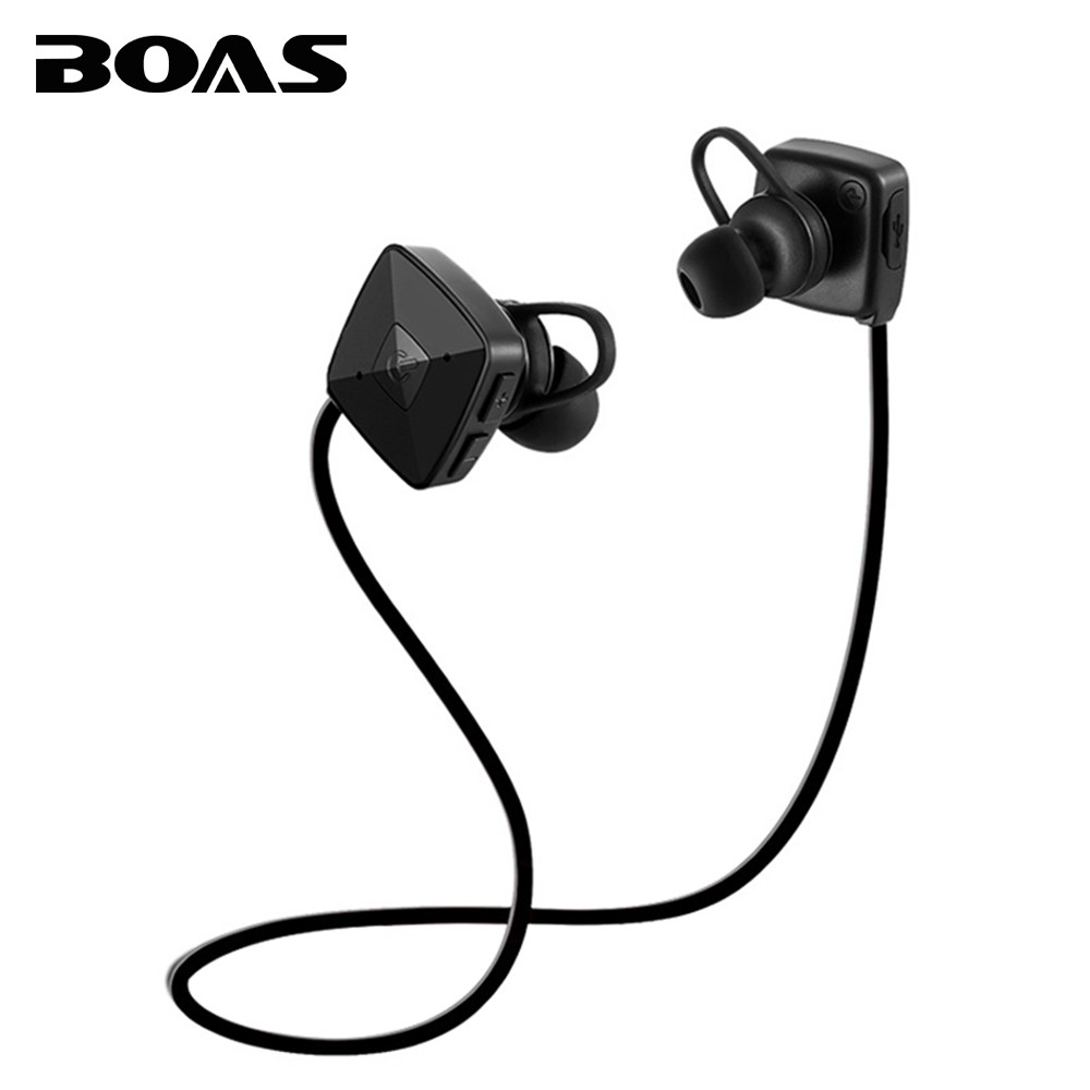 BOAS Bluetooth Wireless 4.2 Earphones Built-in Mic Sport Music Headphone Handsfree Call In-ear Headset Earbuds for Iphone Xiaomi boas car driver bluetooth earphone wireless handsfree handphone base charger dock in ear hook headset with mic for iphone xiaomi