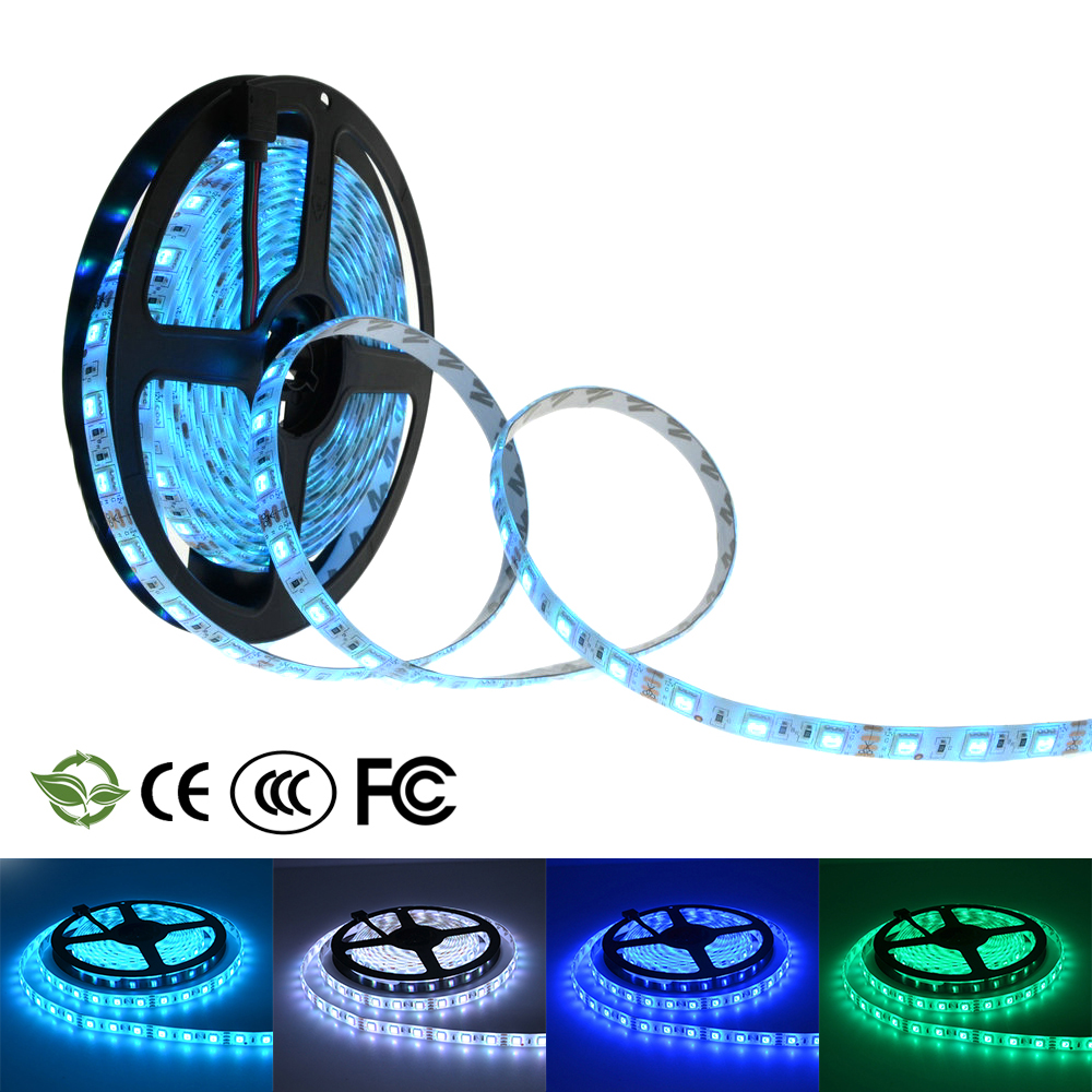 LED strip 3528/5050 5m 300 LED 12V flexible light 60 led/m 3528 LED tape RGB/white/warm white/red/blue/green 3528 smd 120 led m led strip 5m 600 led 12v flexible light no waterproof white warm white blue green red yellow