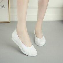 Women Vulcanize Shoes Canvas Wedges Woman Slip-on Fashion Sneakers Ladies Nurse Work Classics Retro Style Best Sellers