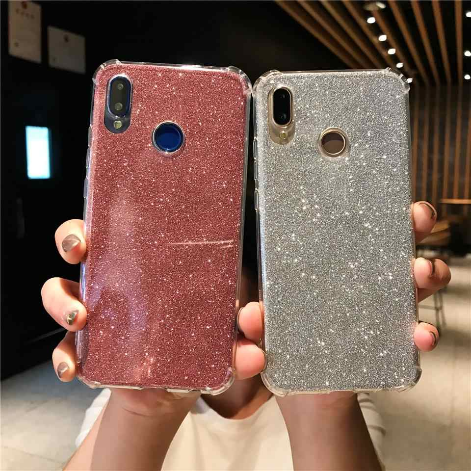 Antishock Glitter 2 in 1 Soft Case For Huawei P20 Lite P10 Mate 20 Pro Nova 3 Cover Silicone Honor 10 9 8X 7X 6X 6A Y6 2018 Case