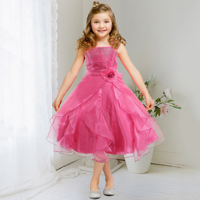ФОТО Summer Baby Girls Dresses Brand Princess Dress Girl Clothes Kids Dresses Children Costumes Ball Gown 3-14 Years Old