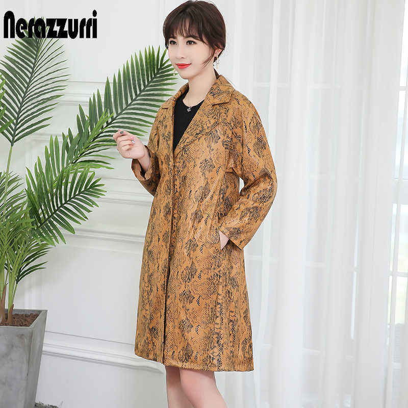 Nerazzurri High quality snake print suede jacket women raglan sleeve faux leather coat large size snakeskin jacket 5xl 6xl 7xl
