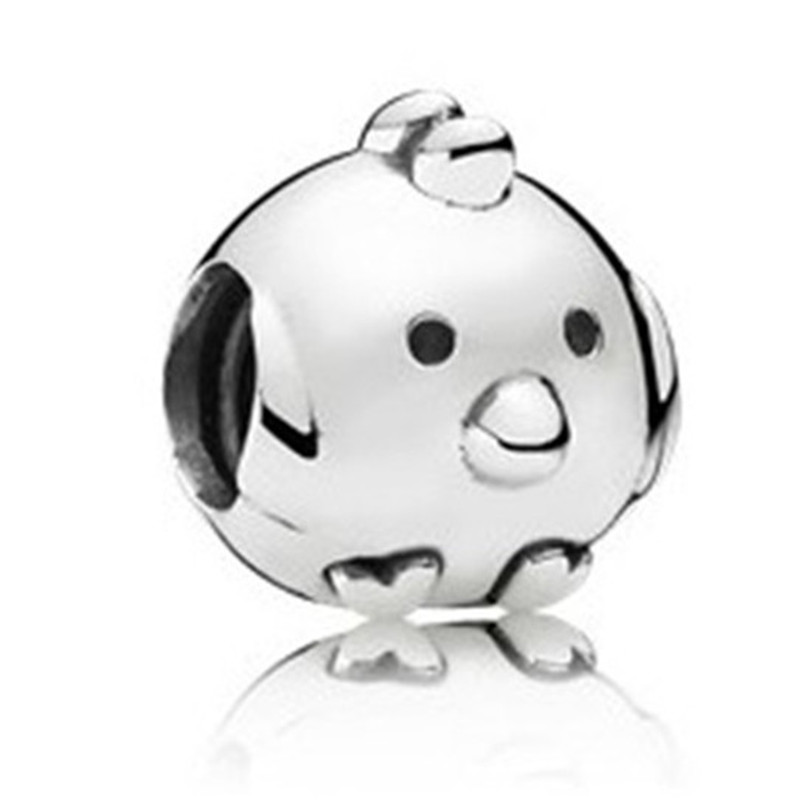 New Trendy 925 Sterling Silver Bead Cute Chicken Charm Fit Original Pandora Bracelets Bangles for Women DIY Europe Jewelry Gift in Beads from Jewelry Accessories