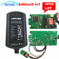 5pcs/Lot Adblue 9 IN 1 Works 9 Brands Truck Supports Euro 4&5 Ad Blue Emulator Heavy Duty Truck Diagnostic Tool Upgrade 8 in 1