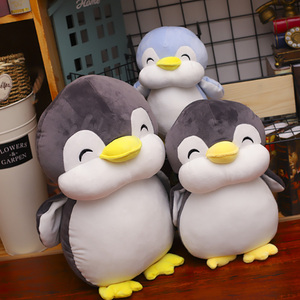 Image 3 - 22cm Smile Penguin Plush Toys Cute Animals Doll Soft Cotton Plush Toys Kids  Birthday Christmas Gift