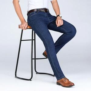 Image 2 - 2020 calças de brim de algodão do inverno dos homens do outono calças de brim do estiramento calças de negócios da forma denim jean jeans dos homens tamanho grande 35 40 42 44 46