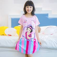 8c142843bf3e New 2018 Children Clothing Summer Dresses Girls Baby Pajamas Cute Princess Nightgown  Kids Home Cltohing Girl