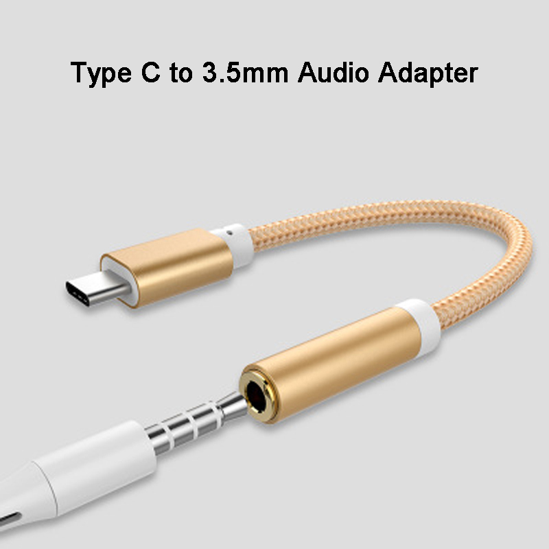Universal Type-C To 3.5mm Jack Audio Adapter Auido Converter Earphone Cable Type USB C To 3.5 Mm Headphone Aux Cable For Huawei