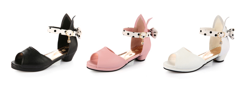 fashion pink sandals girls sweet bow knot candy shoes for summer ... eaa6859b5251