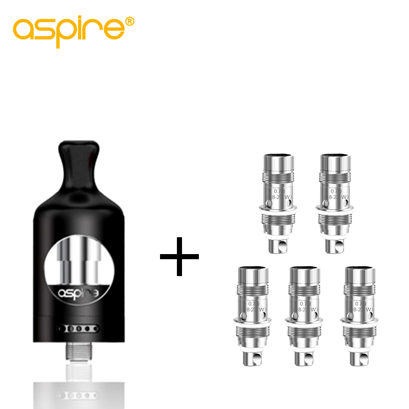 Electronic Cigarette Aspire Nautilus 2 Tank Atomizer 510 Thread + 5pcs Nautilus BVC Coil 0.7ohm for E-cigarettes Zelos Box Mod