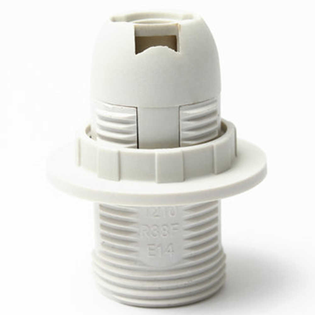 250V  2A Plastic Practical E14 Light Bulb Lamp Holder Pendant Socket Lampshade Ring