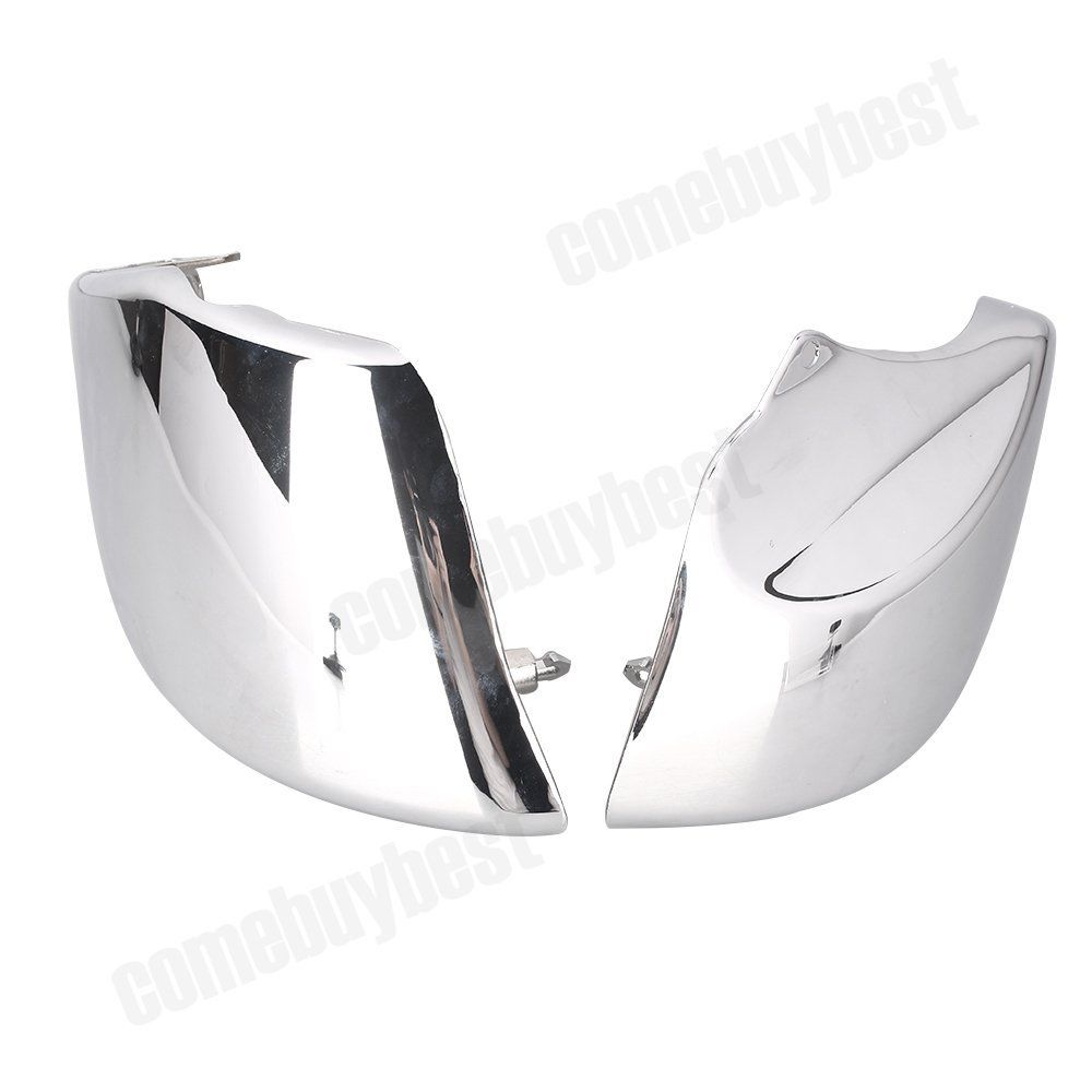 2PCS Motorcycle Chrome Side Battery Cover For Honda VTX1800 VTX 1800 2002 2003 2004 2005 2006 2007 2008 swing arm pivot frame trim covers for honda vtx1300 2003 2004 2005 2006 2007 2008 2009 chrome