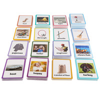 26 Categories 760 Cards Kids learn English word card English paper card children's educational toys for kids Early Learning Toy