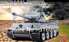 RC Tank Germany Tiger Battle Tank 2.4G HengLong Remote Control Tank Launch cannonball electronic Toys Kids Hobby Toy Model