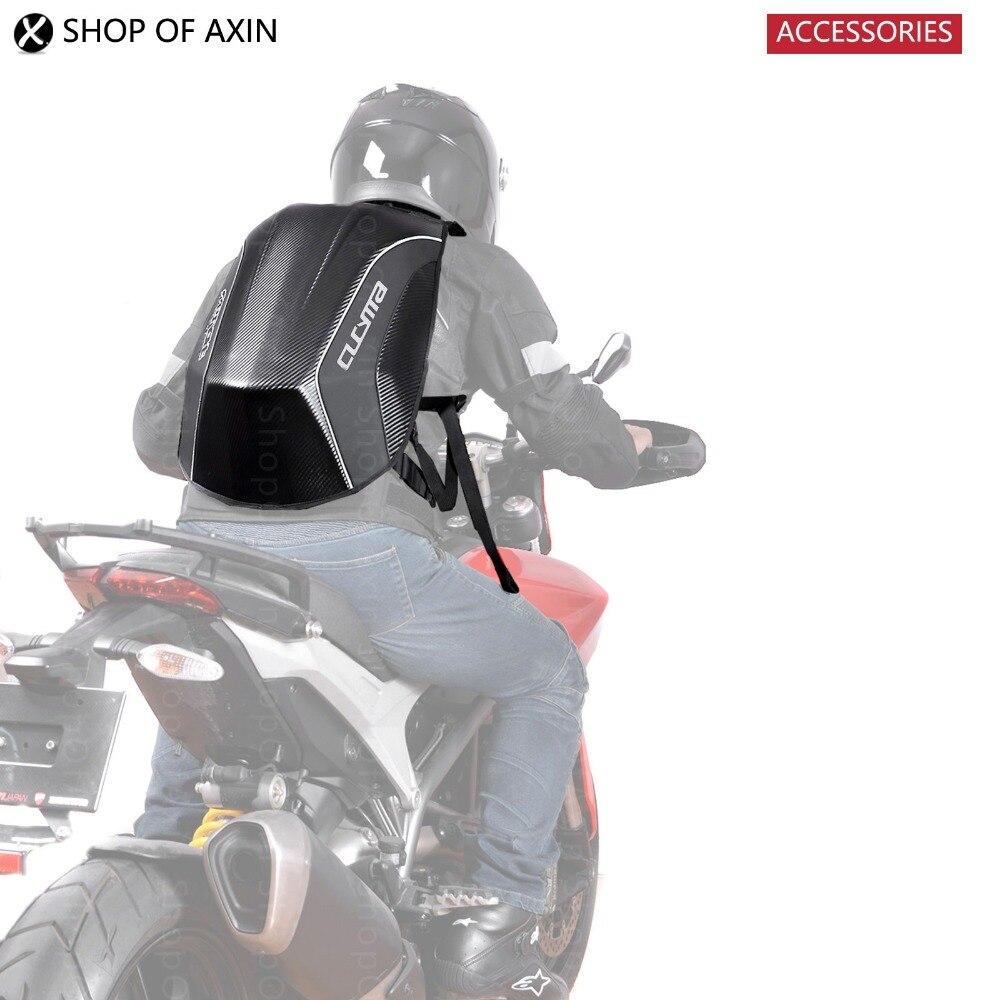 Motorcycle Knight Back Bag Fluency Low Wind Resistance Helmet Bag Carbon Fiber Texture High quality zipper Reflective Strip