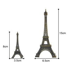 Paris Eiffel Tower Model Bronze Tone Decorative Furnishing Articles Decoration