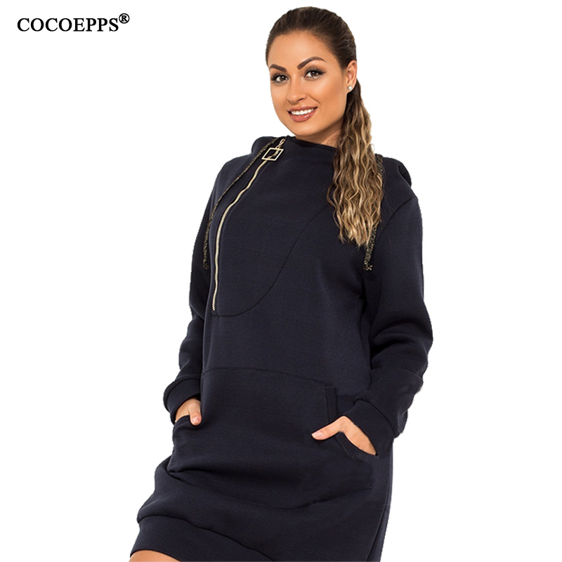 18a3560de25 Aliexpress.com   Buy COCOEPPS Plus Size Women Autumn Hooded 5XL 6XL Big  Large Size Stretchy Warm Winter Clothes Harajuku Long Sleeve Pullovers Top  from ...