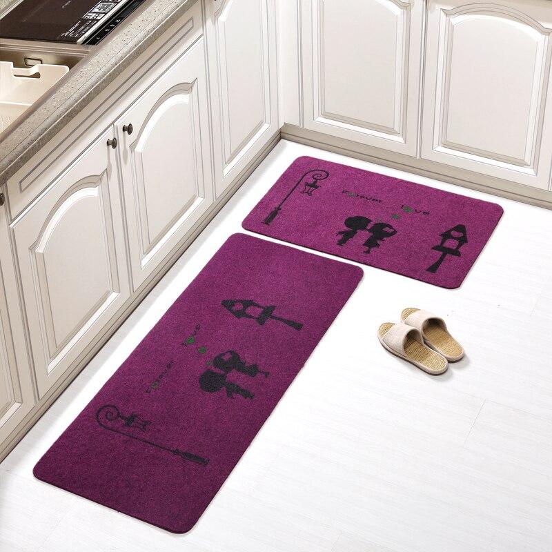 New Style Bathmat For Toilet 2pcs/set Large Kitchen Rugs For Decor Anti Slip Bathroom Mat In Home Water Adsorption Salle De Bain