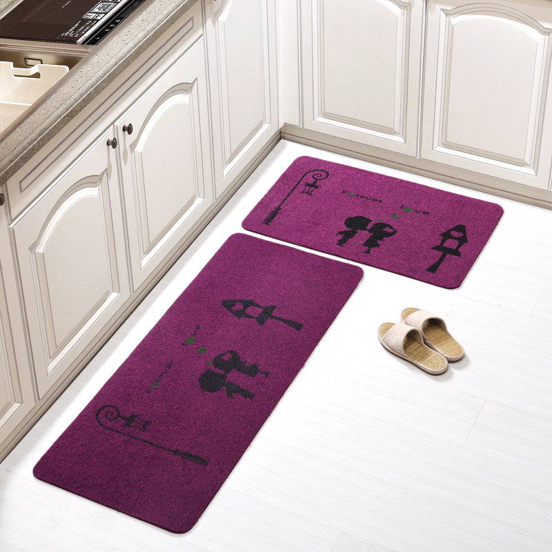 New Style <font><b>Bathmat</b></font> For Toilet 2pcs/set Large Kitchen Rugs For Decor Anti Slip Bathroom Mat In Home Water Adsorption Salle De Bain