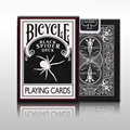 1 Шт. Черный Паук Палуба Велосипедов Игральные карты Poker Размер USPCC Фокус Трюков Магия Палубе