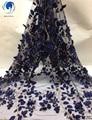 Красивая кружевная 3d ткань с бусинами  сетчатая кружевная ткань для свадебного платья  кружевная ткань в нигерийском стиле  2019  5 ярдов/парти...