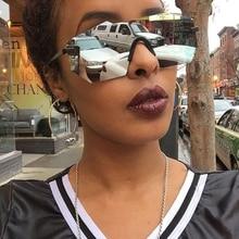 RBUDDY steampunk goggles Sunglasses Rimless Women Brand Design Mirror Sun glasses Male Hipster Female lunette de soleil femme