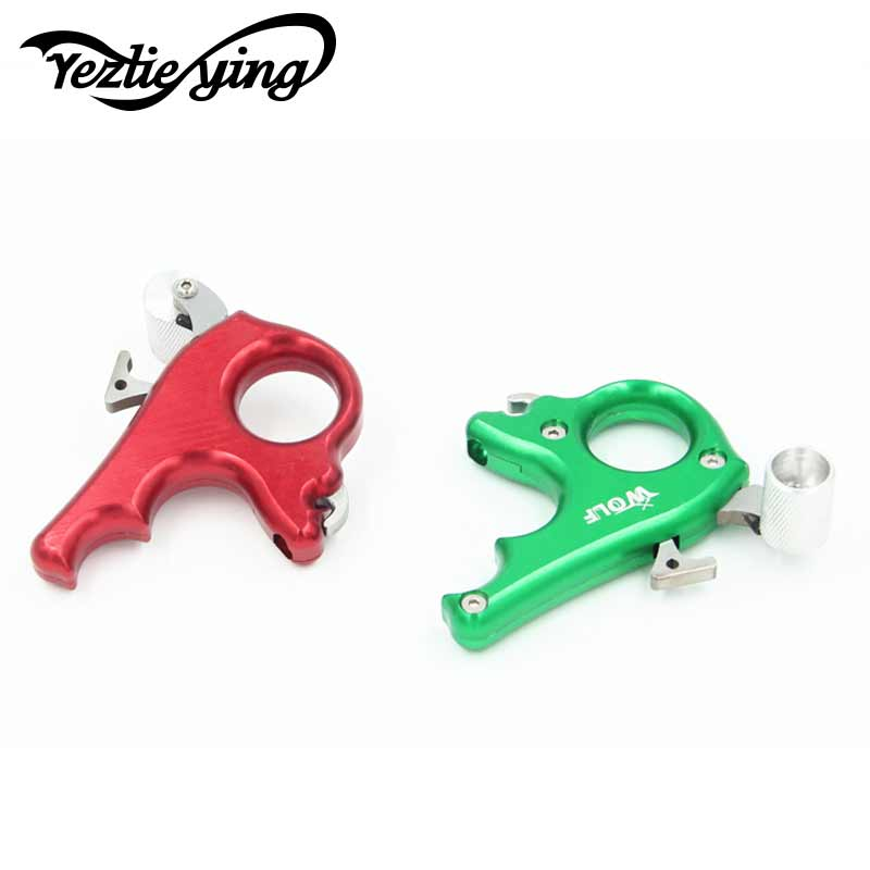 3 Finger Stainless Steel Release Aid Archery Caliper Release for Compound Bow Archery Arrows and Bow Release