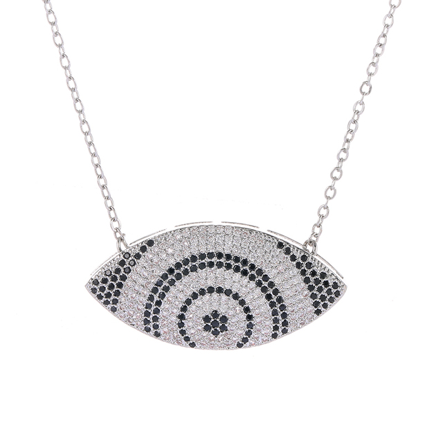 2018 greek evil eye pendant necklace female micro pave cubic 2018 greek evil eye pendant necklace female micro pave cubic zirconia big pendants necklaces for women aloadofball Image collections