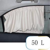 2X Car Sun Shade Side Nylon Mesh Window Curtain Foldable Sunshade UV Protection